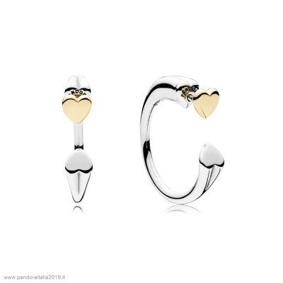 Pandora Prezzi Two Hearts Earring Hoops