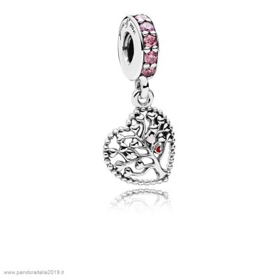 Pandora Prezzi Tree Of Amore Dangle Charm Mixed Enamel Multi Colored Cz