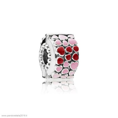Pandora Prezzi Burst Of Amore Clip Mixed Enamel
